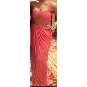 Pink and Gold prom dress js collections dress 12